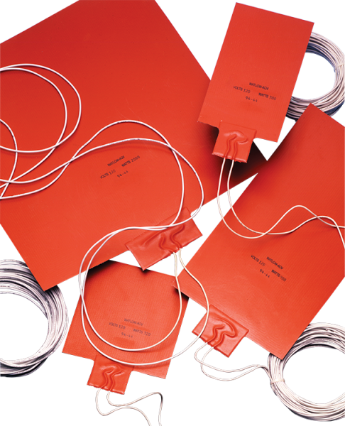 thin and rugged silicone rubber heaters