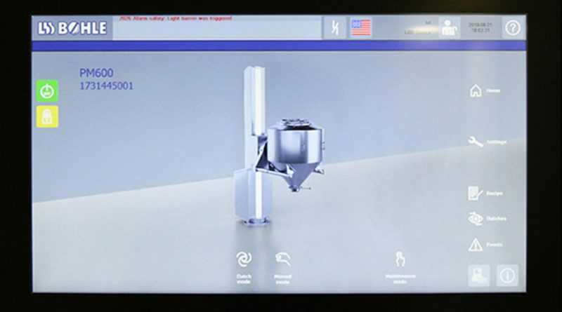 container blender touch panel