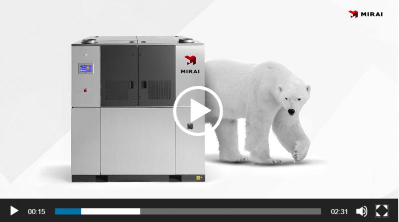 ULT refrigeration machine video