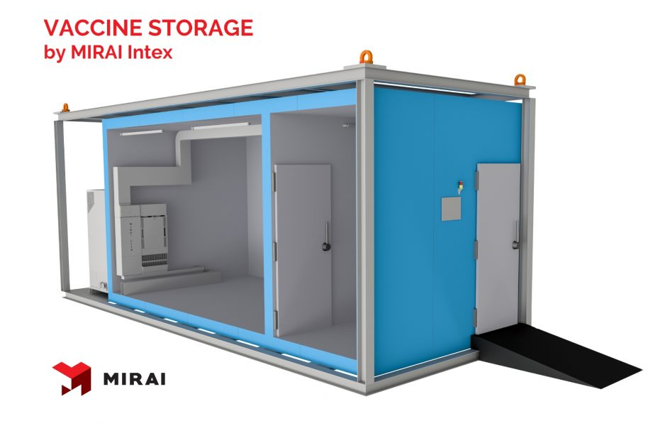 cold chamber for vaccine storage
